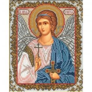 Святой Ангел Хранитель Набор для частичной вышивки бисером Русская искусница