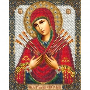 Богородица Семистрельная Набор для частичной вышивки бисером Русская искусница