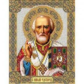 Святой Николай Набор для частичной вышивки бисером Русская искусница