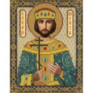 Святой Константин Набор для частичной вышивки бисером Русская искусница