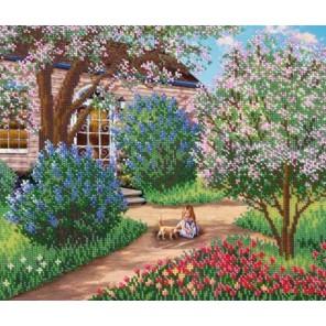 Цветущий сад Набор для частичной вышивки бисером Русская искусница