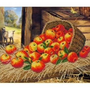 Яблочный Спас Набор для частичной вышивки бисером Русская искусница