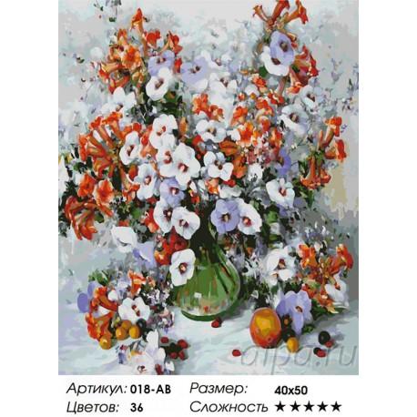 Количество цветов и сложность Городские цветы Раскраска картина по номерам акриловыми красками на холсте Белоснежка