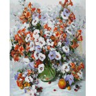 Городские цветы Раскраска картина по номерам акриловыми красками на холсте Белоснежка