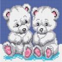 Медвежата Алмазная вышивка мозаика на подрамнике Белоснежка