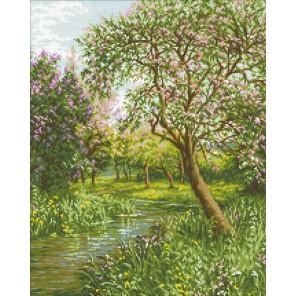 Цветущий сад Алмазная мозаика вышивка Паутинка