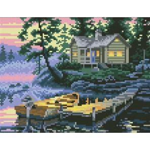 Рыбацкий домик Алмазная мозаика вышивка Паутинка