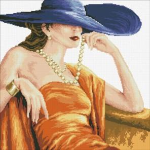 Прекрасная леди Алмазная мозаика вышивка Паутинка