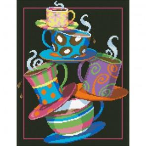 Кофе, чай! Алмазная мозаика вышивка Паутинка