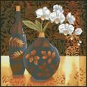 Натюрморт с орхидеей Алмазная мозаика вышивка Паутинка