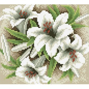 Садовые лилии Алмазная мозаика вышивка Паутинка