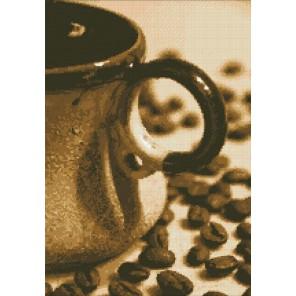 Чашечка кофе Алмазная мозаика вышивка Паутинка
