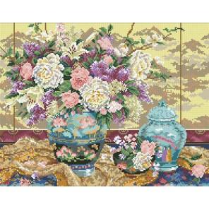 Китайский букет Алмазная мозаика вышивка Паутинка