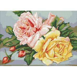 Трио чайных роз Алмазная мозаика вышивка Паутинка