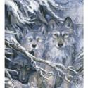 Волки Алмазная мозаика вышивка Паутинка