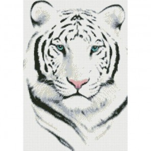Белый тигр Алмазная мозаика вышивка Паутинка