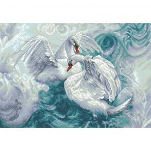 Лебеди Алмазная мозаика вышивка Паутинка