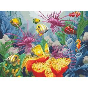 Подводный мир Алмазная мозаика вышивка Паутинка