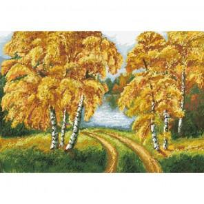 Осенний день Алмазная мозаика вышивка Паутинка