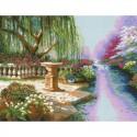 Ивовый сад Алмазная мозаика вышивка Паутинка