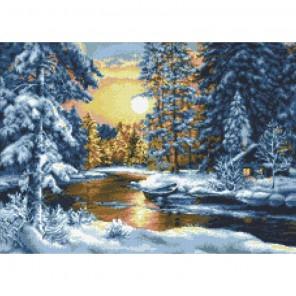 Зимний вечер Алмазная мозаика вышивка Паутинка