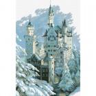 Замок Нойшванштайн Алмазная мозаика вышивка Паутинка