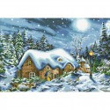 Рождественская ночь Алмазная мозаика вышивка Паутинка