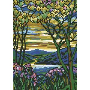 Витраж Весна Алмазная мозаика вышивка Паутинка