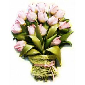 Тюльпаны Набор для вышивки картины лентами