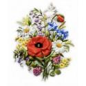 Полевые цветы Набор для вышивки картины лентами