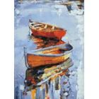Лодки Алмазная вышивка мозаика Гранни
