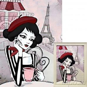 Город любви Алмазная вышивка мозаика Гранни с примером готовой работы в рамке