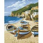 Рыбацкие лодки Алмазная вышивка мозаика Гранни