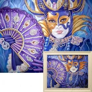 Венецианский фестиваль Алмазная вышивка мозаика Гранни с примером готовой работы в рамке