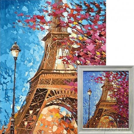 Парижские краски Алмазная вышивка мозаика Гранни с примером готовой работы в рамке