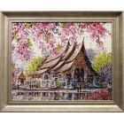 Пагода Алмазная вышивка мозаика Гранни - готовая работа в рамке
