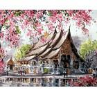 Пагода Алмазная вышивка мозаика Гранни - оригинал изображения