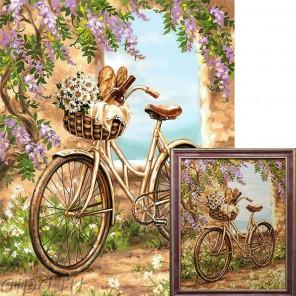 Поездка в город Алмазная вышивка мозаика Гранни с примером готовой работы в рамке