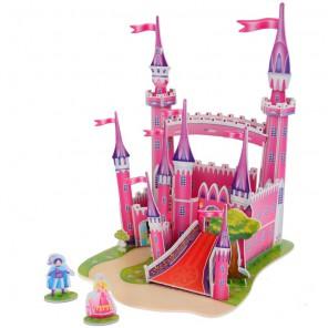 Розовый замок 3D Пазлы Zilipoo