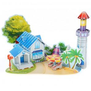 Романтический пляж 3D Пазлы Zilipoo