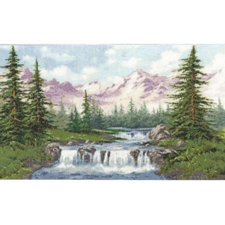 Горный пейзаж Набор для вышивания Золотое Руно