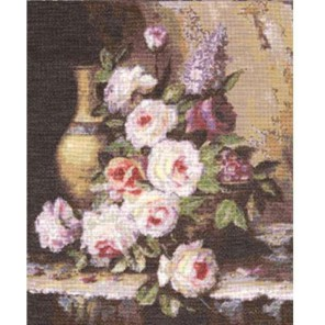 Мраморные розы Набор для вышивания Золотое Руно