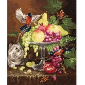 Ваза с фруктами Набор для вышивания Золотое Руно