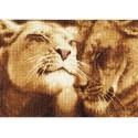Влюбленные львы Набор для вышивания Золотое Руно