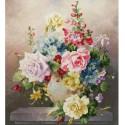 Цветочная мозаика Набор для вышивания Золотое Руно