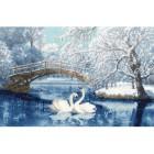 Белые лебеди Набор для вышивания Золотое Руно