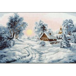Зимнее утро Набор для вышивания Золотое Руно