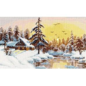 Снежный рассвет Набор для вышивания Золотое Руно