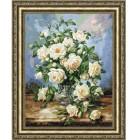 Букет белых роз Набор для вышивания Золотое Руно