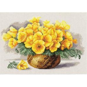 Желтые маки Набор для вышивания Золотое Руно